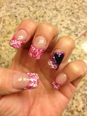 valentines colored acrylic design