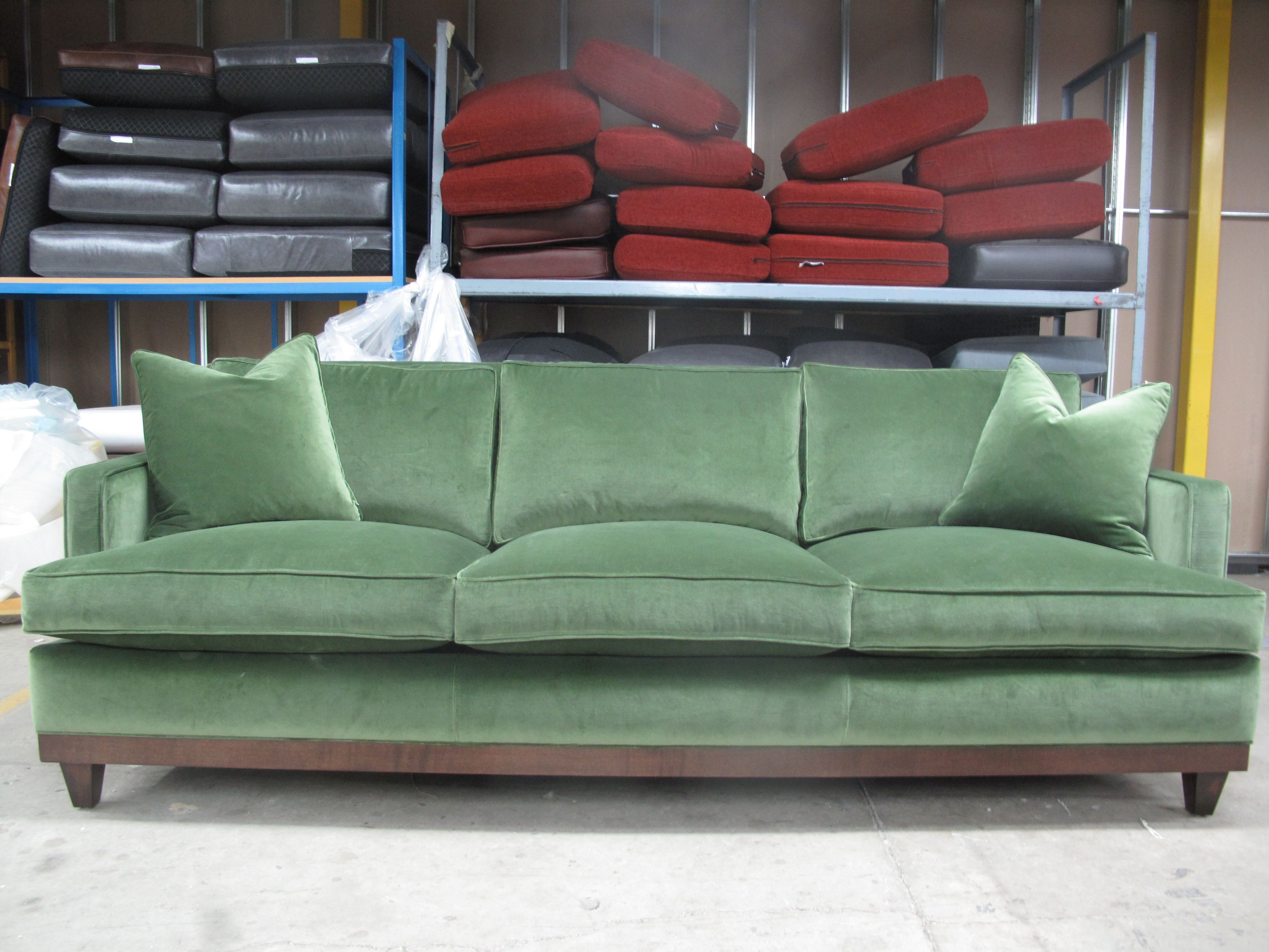 green velvet sofa couch very large throws furniture pinterest