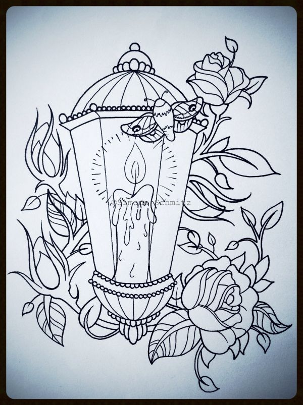Lantern Tattoo Designs Drawings