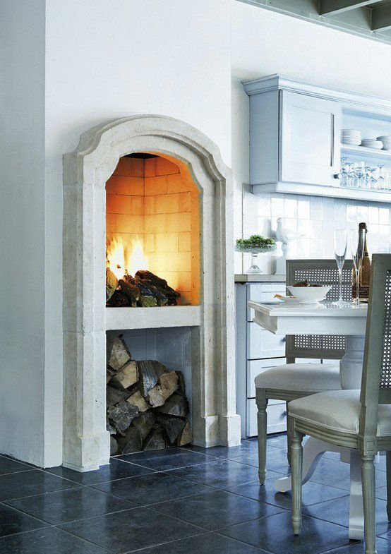 Kitchen Fireplace Dreaming Pizza Kitchens