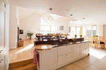 Nice Bright Split Level Kitchen Diner Ideas