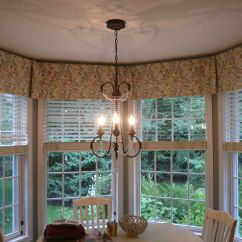 Bay Window Kitchen Curtains Hanging Lights Valance Home Decor Pinterest
