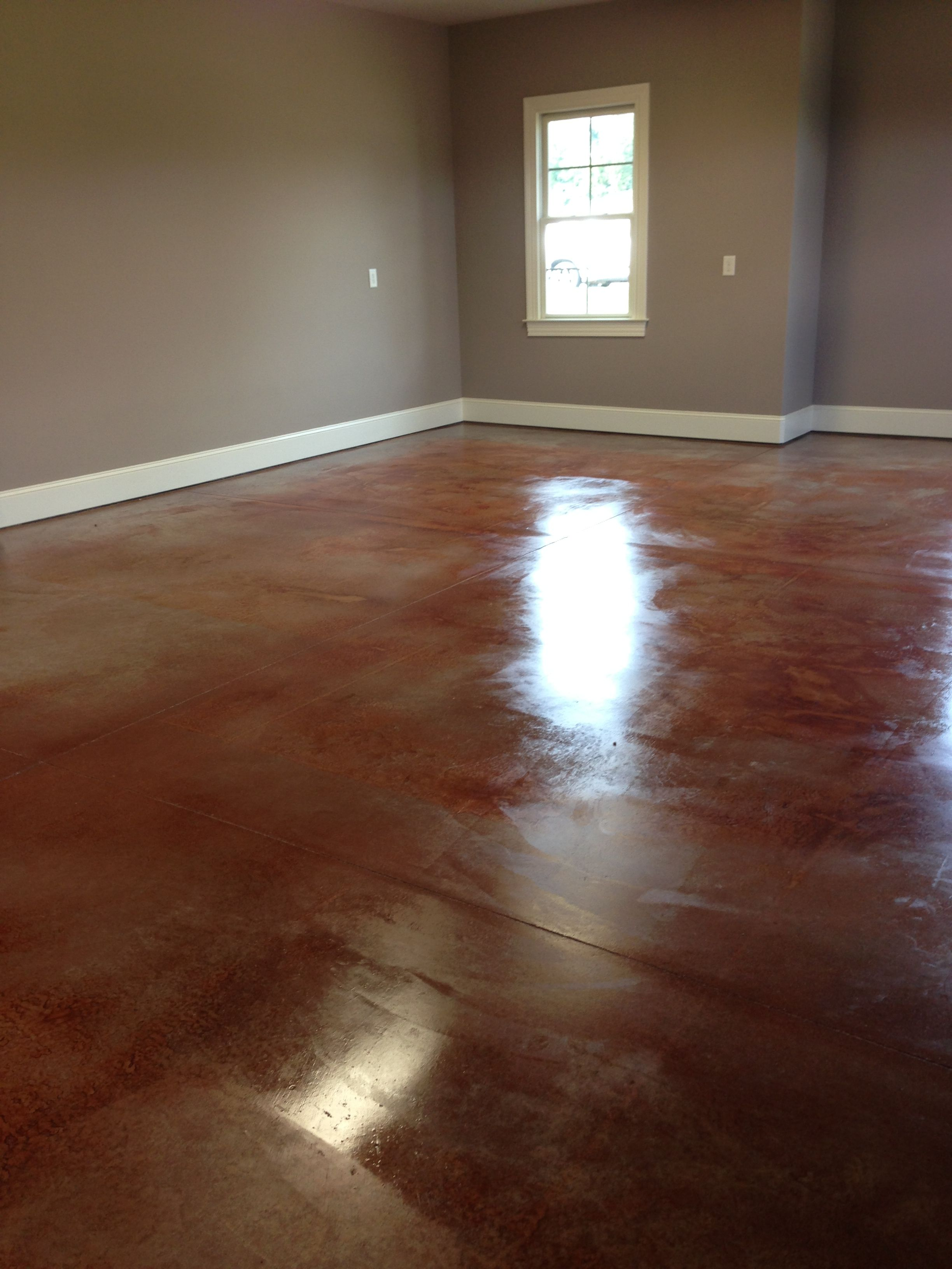 Stained Concrete Garage Floor  For the Home  Pinterest
