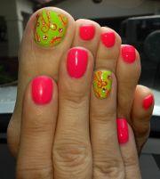 summer nails cute pedi design