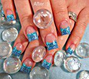 blue acrylic nails nailz
