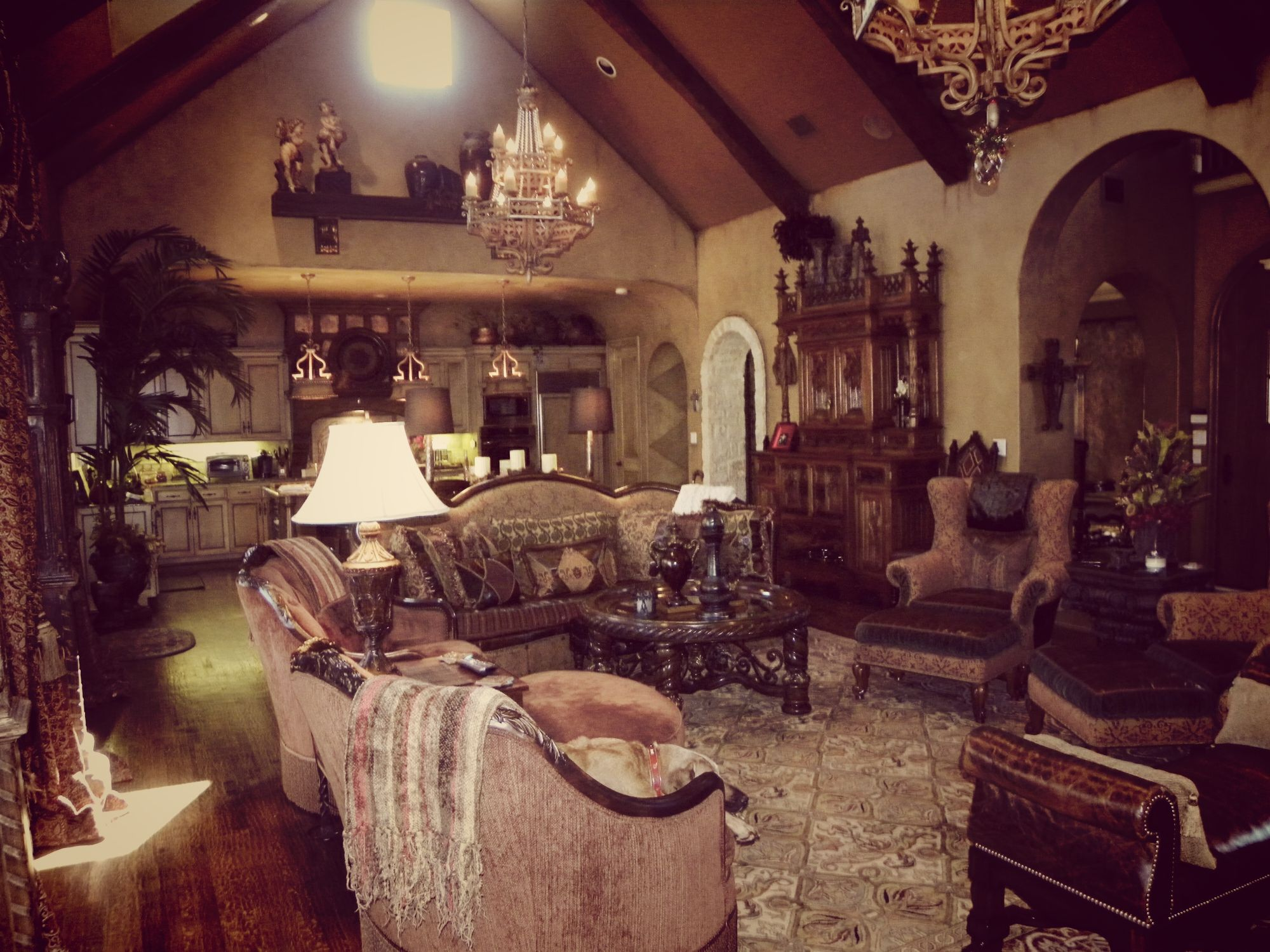 #Luxurious #Gothic #Living #Room