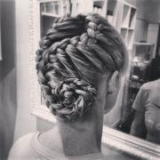 cool braid. hairstyle. french braid