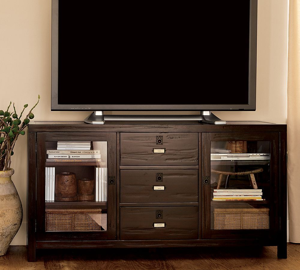 Rhys media console from Pottery Barn  do want  Pinterest