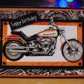 Harley davidson birthday card card making inspiration pinterest