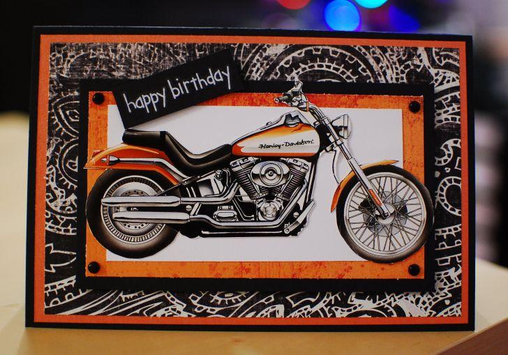 Harley Birthday Card
