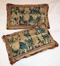 18th c. brown pair Aubusson pillows | Antiques | Pinterest