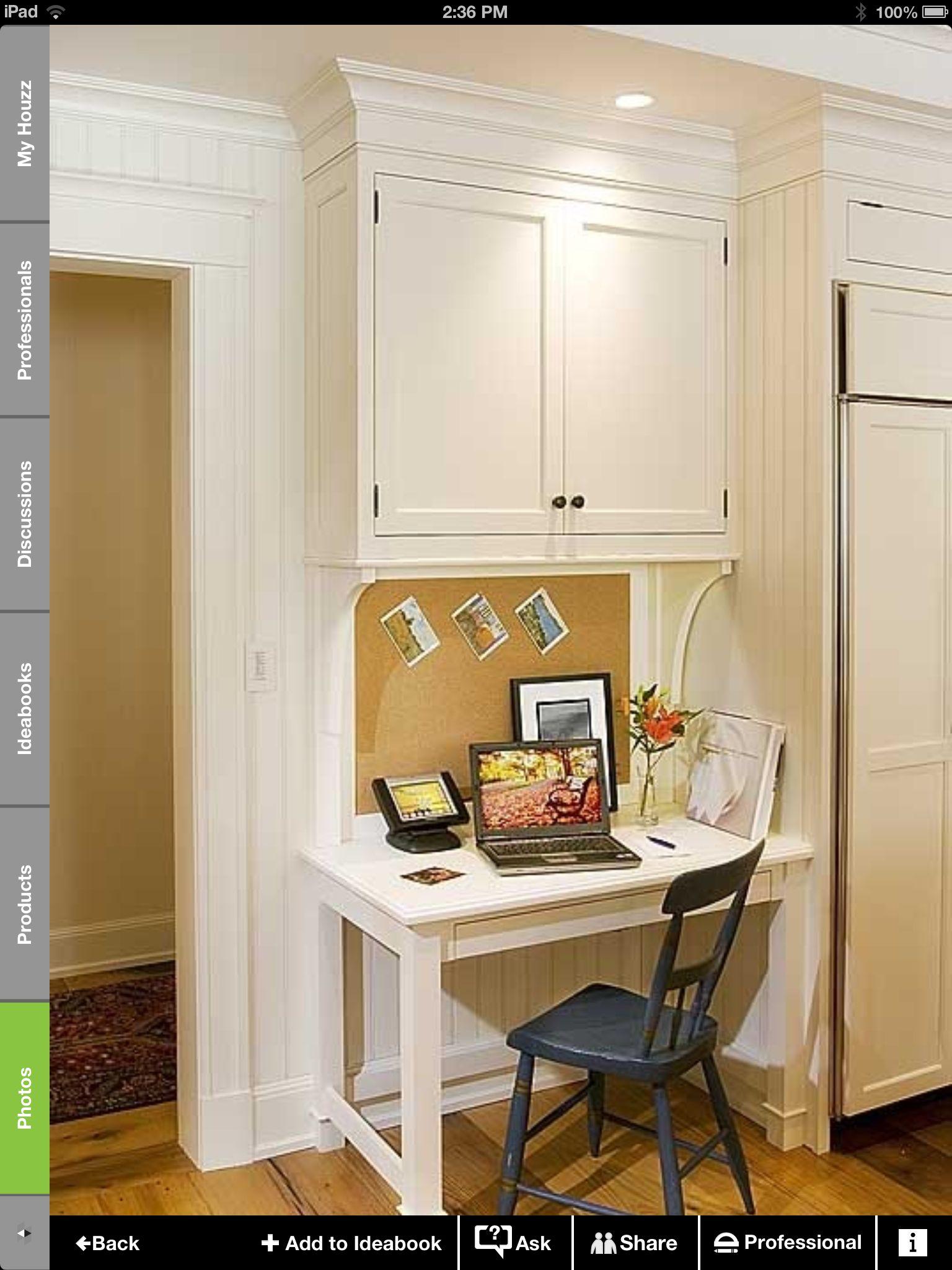 kitchen desk ideas home depot storage cabinets small future pinterest