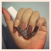 ombre brown nails