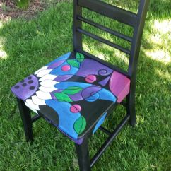 Hand Painted Wooden Chairs Wheelchair Narrow Adult Chair By K Mader For Sale Furniture