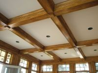 wood coffered ceiling with ivory inset | Coffered ceilings ...