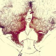 natural curly hair art