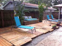 Pallet patio   Yard work   Pinterest