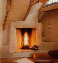 cozy cob fireplace | Cob/Straw Bale | Pinterest