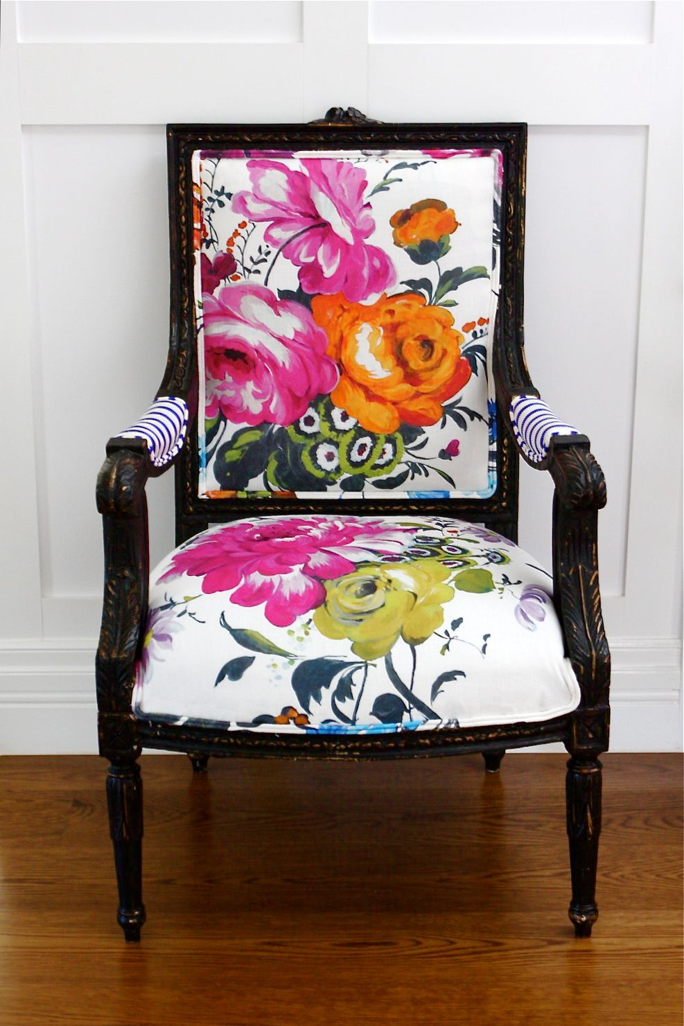 orange wicker chair cushions office chairs raleigh nc grandma is back - floral design, large flowers, interiors