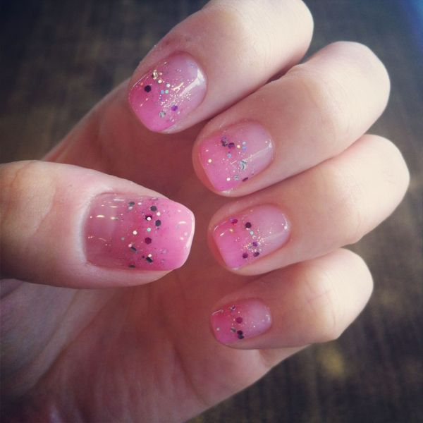 20 Pink Glitter Ombre Gel Nails Pictures And Ideas On Meta Networks