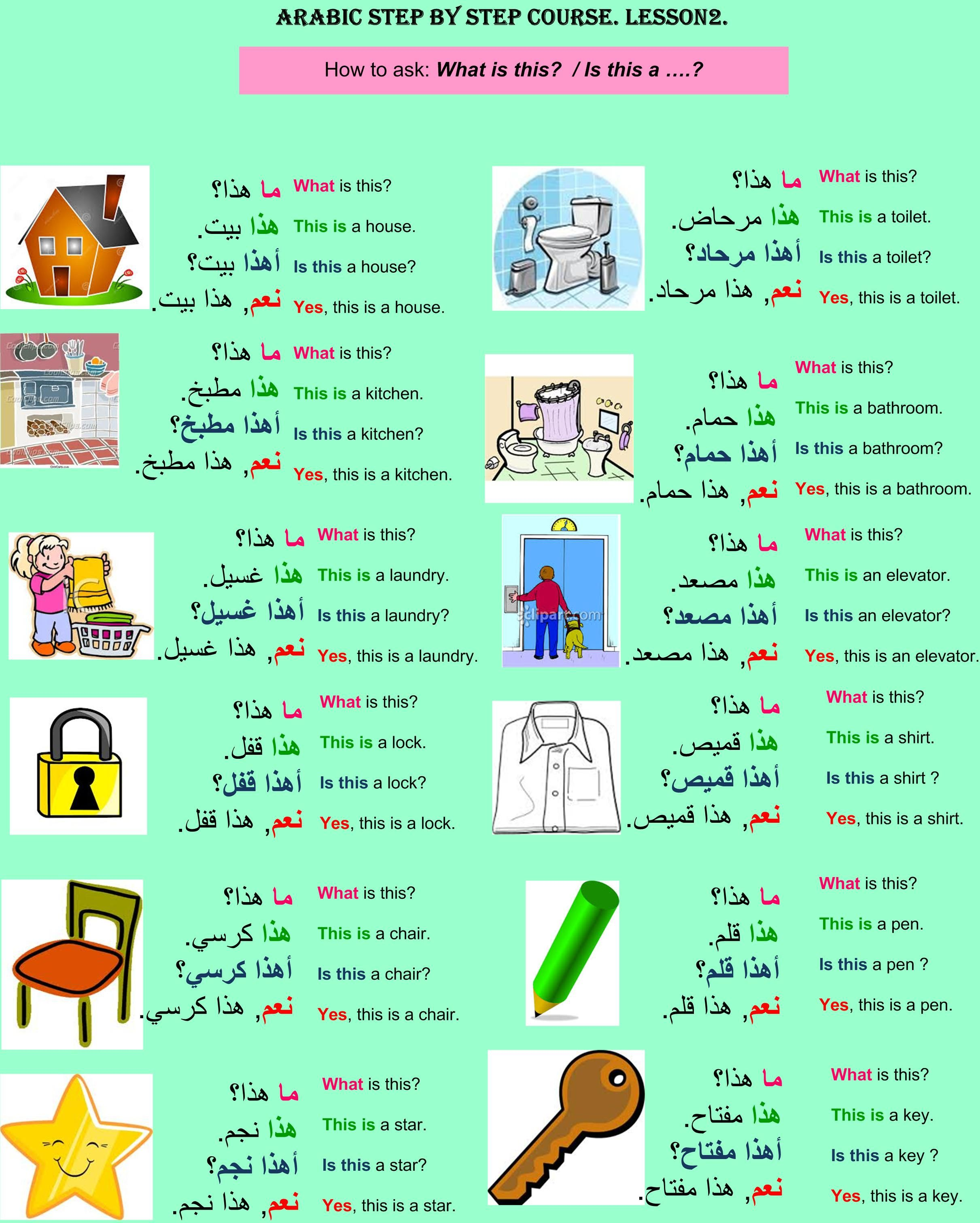Arabic Step By Step Course Lesson 2