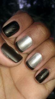 matte black and shimmer silver