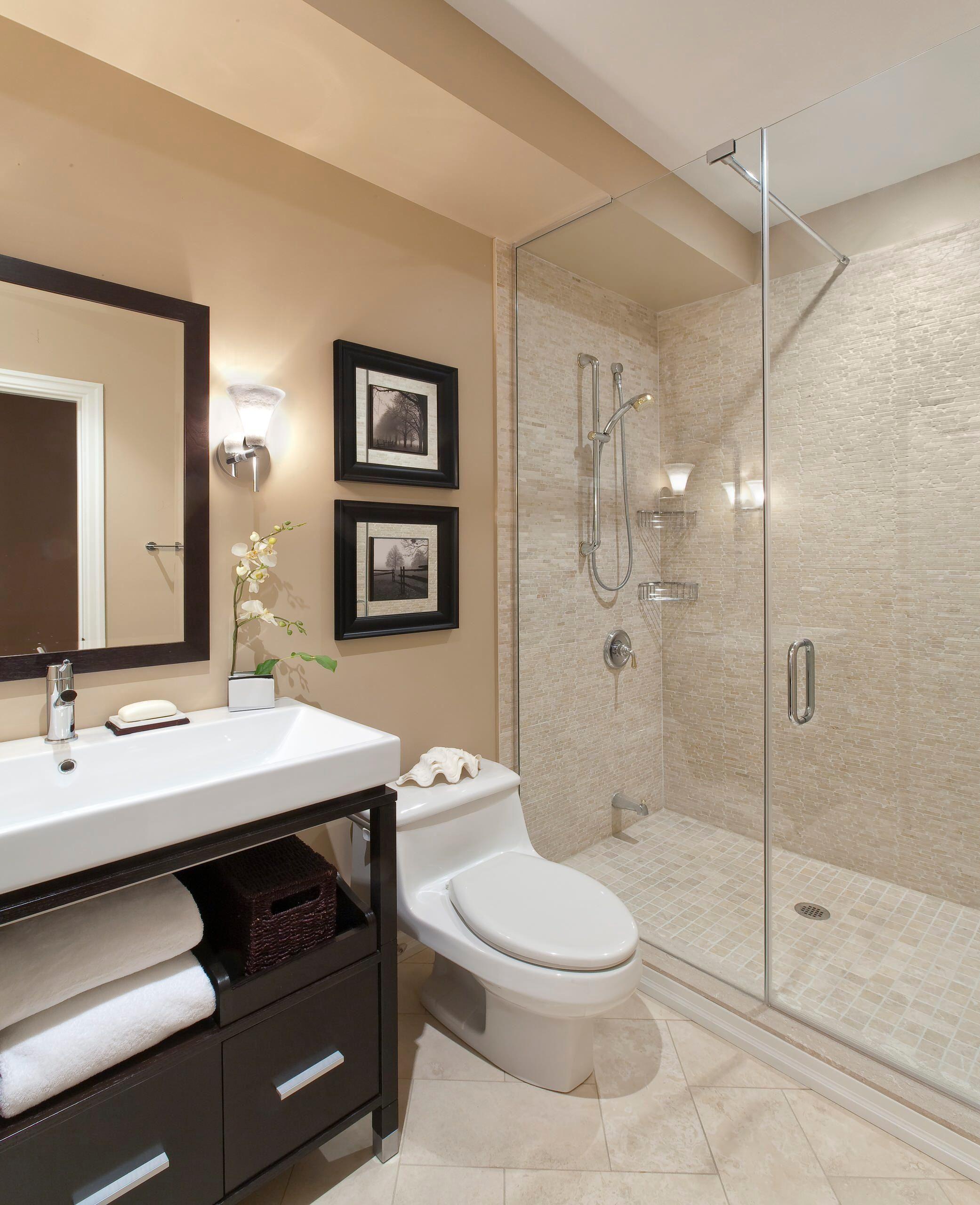 glass shower door  Small Bathroom Remodel ideas  Pinterest