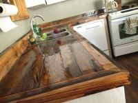 DIY countertops wood rustic | kitchen cabinets | Pinterest