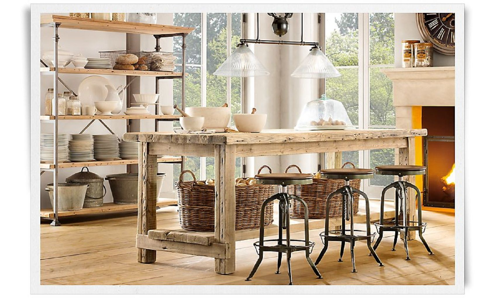 restoration hardware kitchen table ikea cabinet sale industrial chic dining room style interior