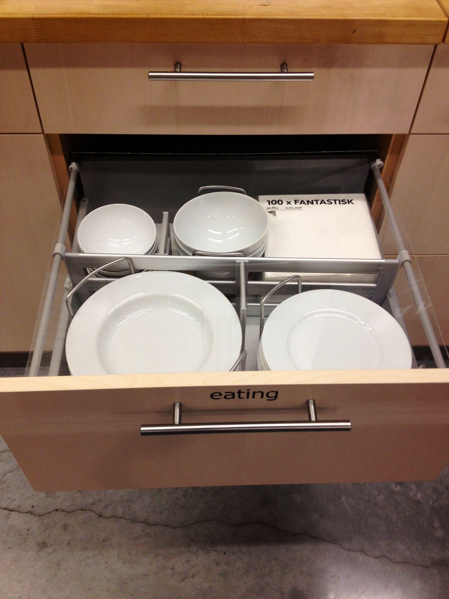 kitchen drawer organizer ikea butcher block store organizers pinterest