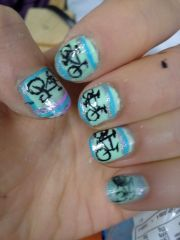 bicycle nails nail art