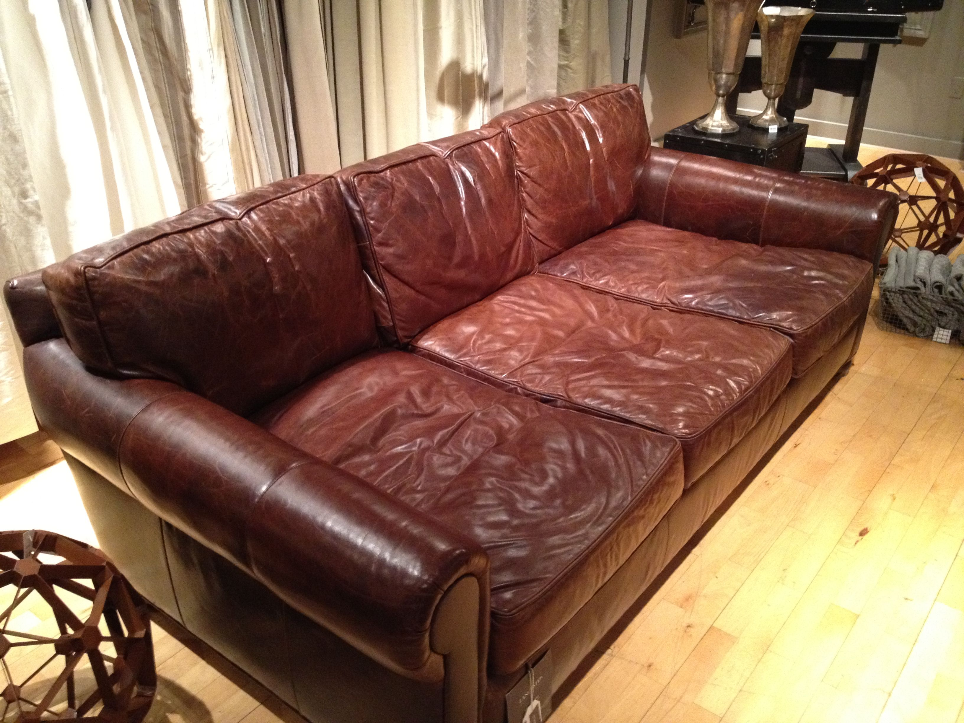 leather sectional sofa restoration hardware what is a dual motion share