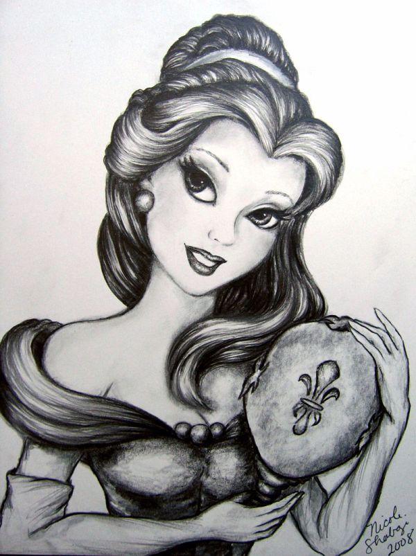"Beautiful Belle In Black And White Disney' ""beauty Beast"" - Beneath Beast"
