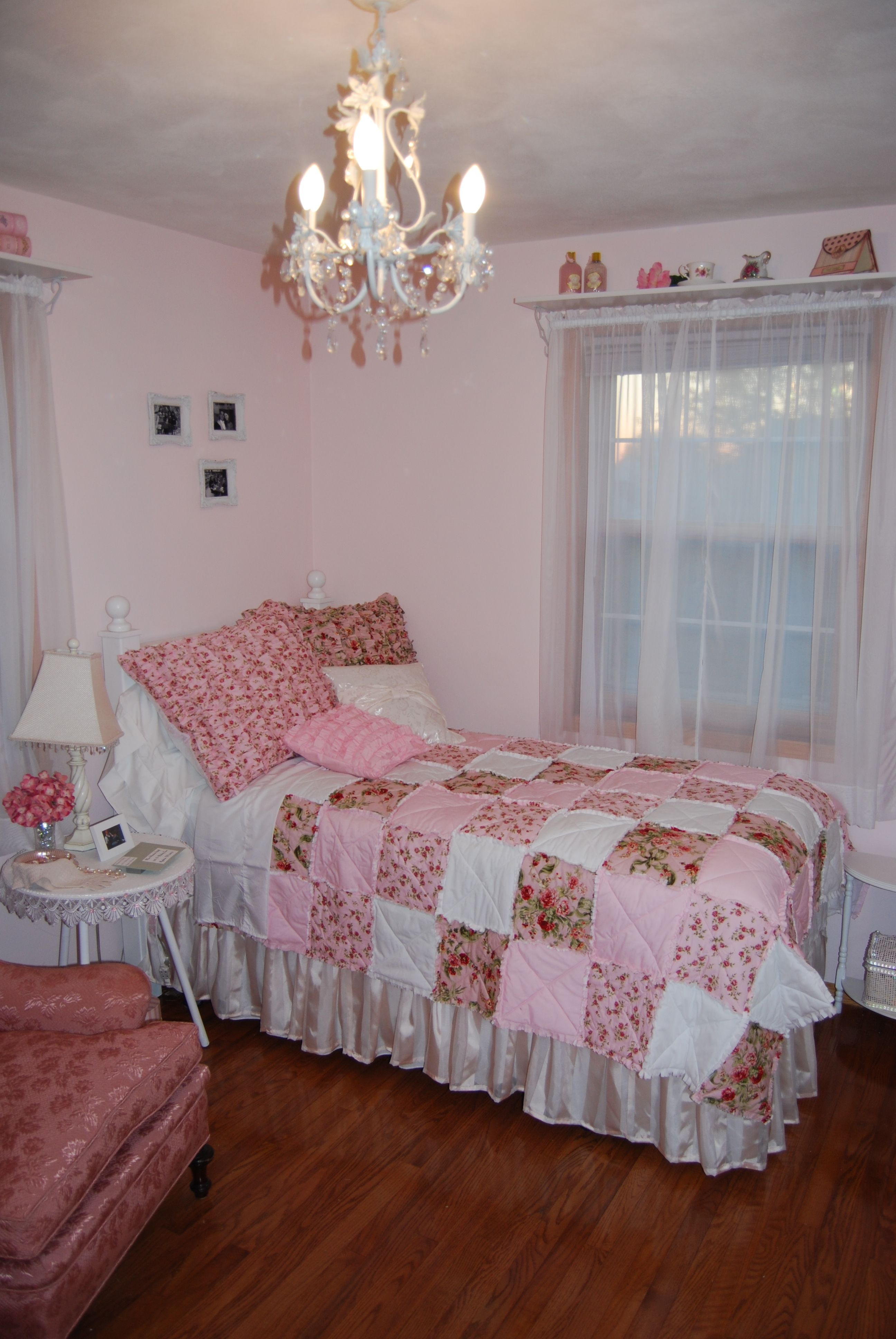 title | Pink Shabby Chic Bedroom