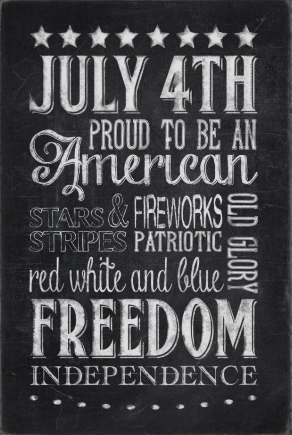 Free Pinnable Printable Patriotic Quotes Art for July 4th