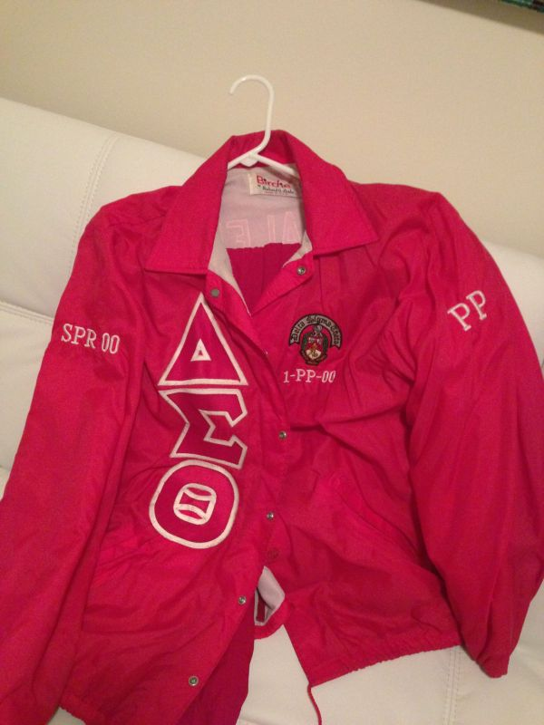 Tan Delta Sigma Theta Line Jacket - Year of Clean Water