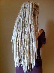 white dreads hair