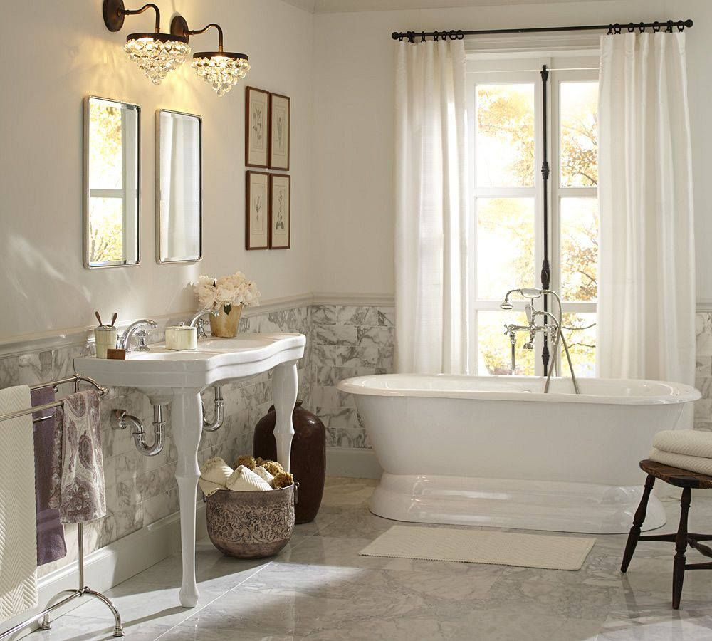 Pottery Barn bathroom  Master Bathroom  Pinterest