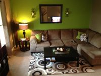 Green and brown living room | Decker house upgrades ...
