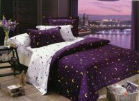 Purple celestial bedding