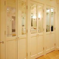Half mirrored French doors