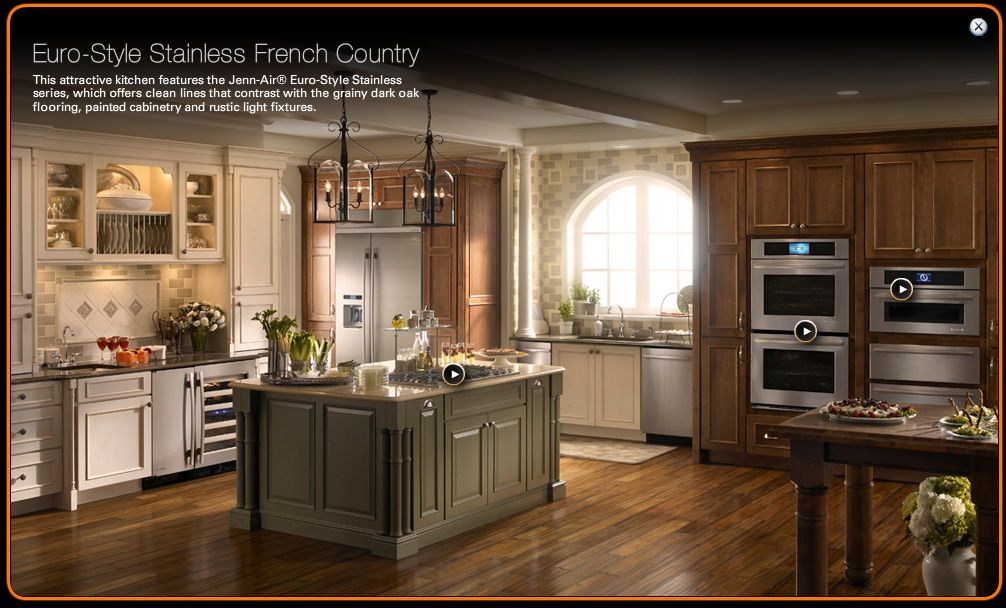 Mixed Kitchen Cabinets Mix Of Cabinet Colors, From Jennair.com | Kitchen | Pinterest