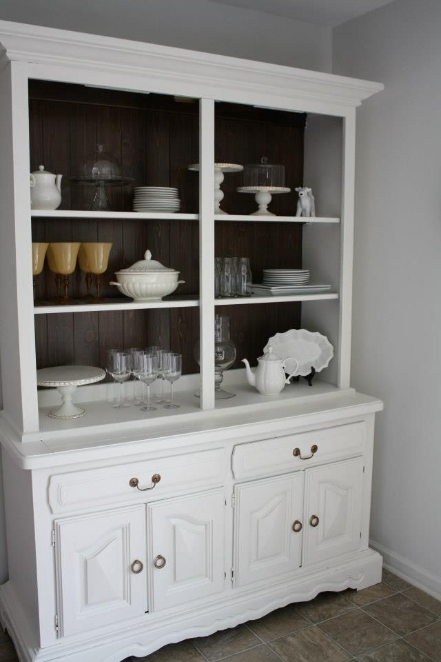 DIY painted china cabinet  DIY projects  Pinterest