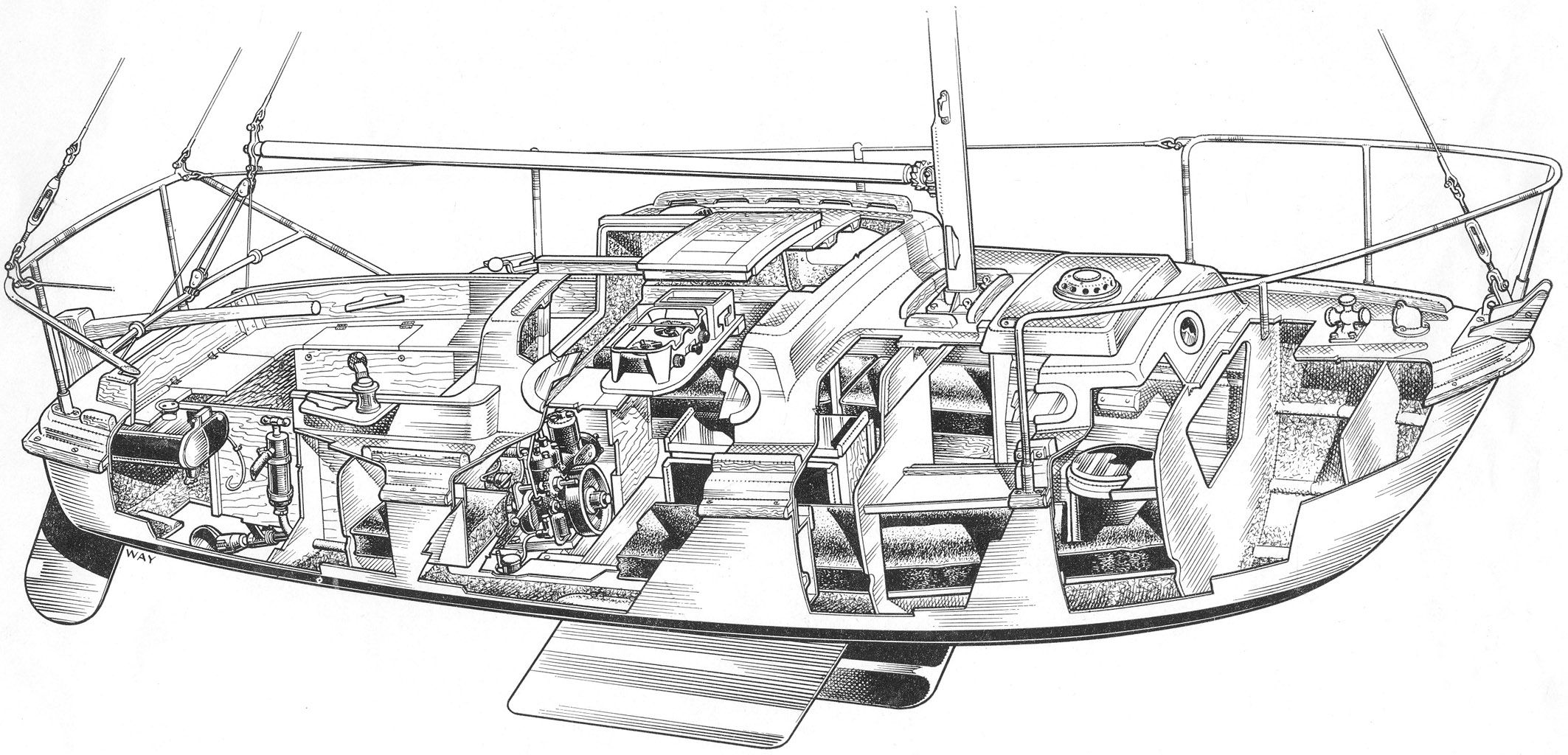 Sailboat Cutaway Diagram