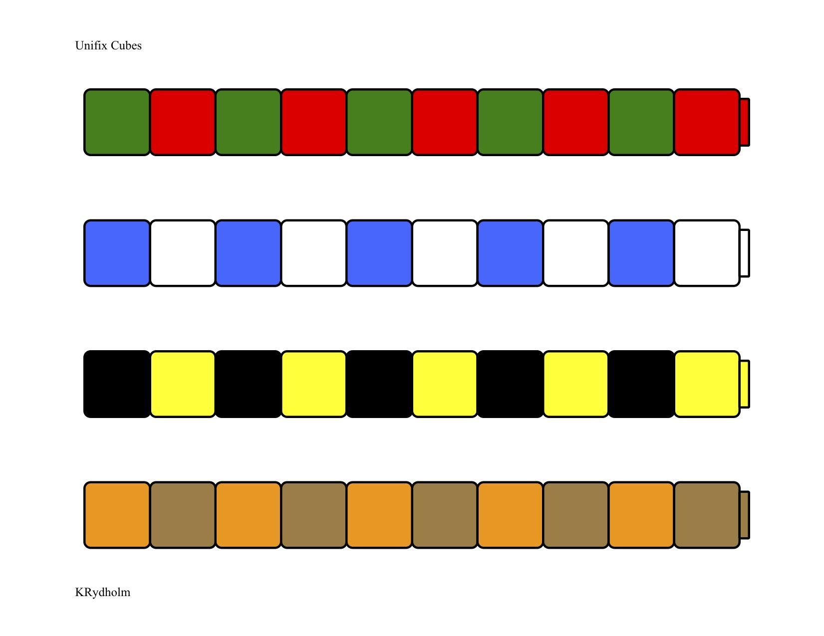 Unifix Patterns 1 Work