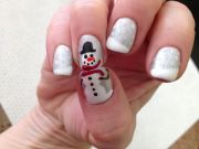 christmas gel nail art