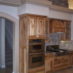 Rustic Hickory Kitchen Cabinets Stainless Steel Shelf Pinterest