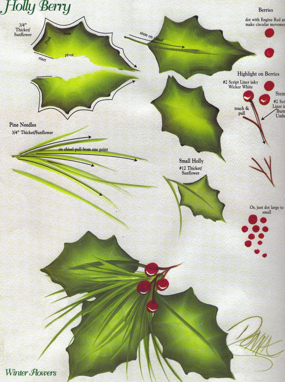 Images About Painting Holly For Christmas On