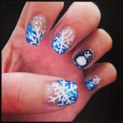 cute winter nail design