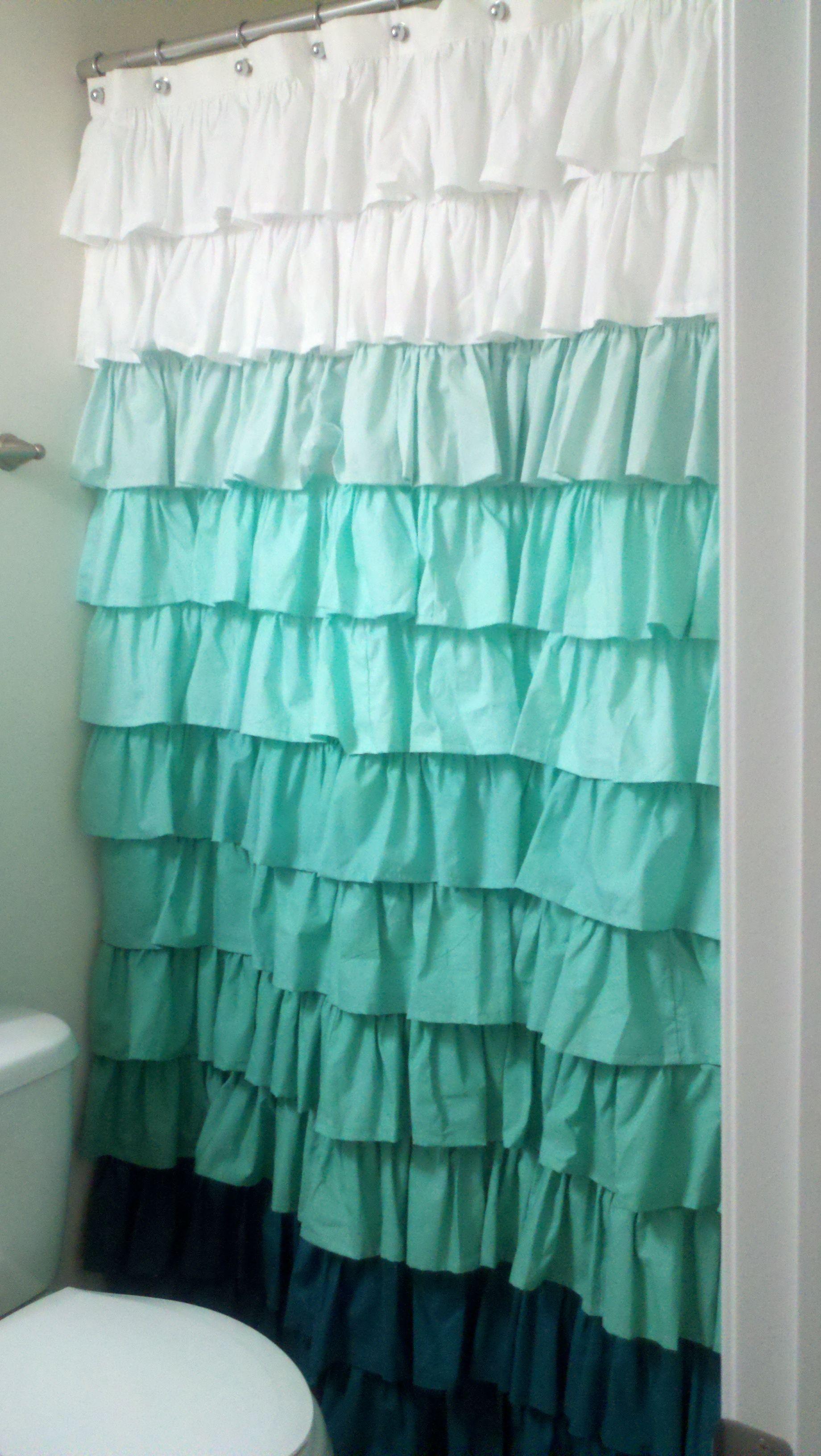 Ruffle shower curtain  Great Ideas  Pinterest